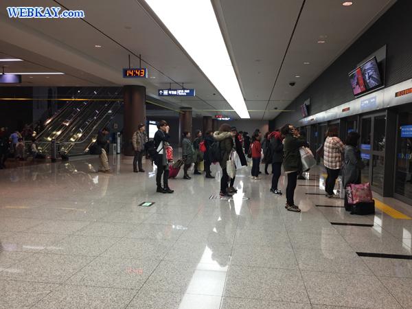 電車 チェジュ航空 Jeju airlines  仁川国際空港