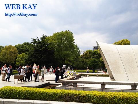 広島平和記念公園 原爆死没者慰霊碑