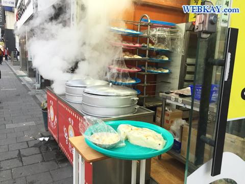 蒸しパン 江原道原州(ウォンジュ)の市場でお買い物