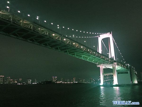 レインボーブリッジ rainbow bridge 東海汽船 さるびあ丸 東京 夜景 船 night view tokyo tokaikisen sarubiamaru ship