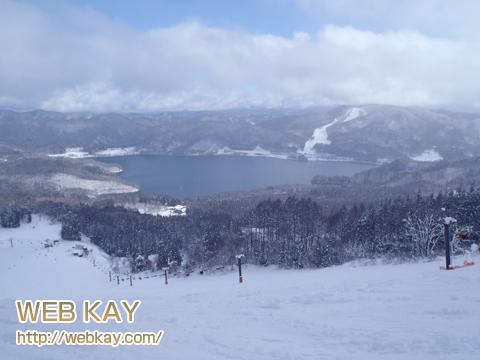 白馬 さのさかスキー場からみた青木湖