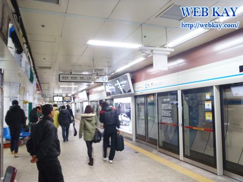 地下鉄 ミョンドン 韓国格安ツアー 自由行動 レビュー