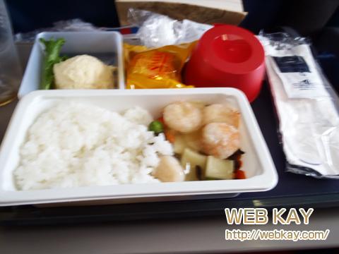 サイパン デルタ 飛行機 機内食