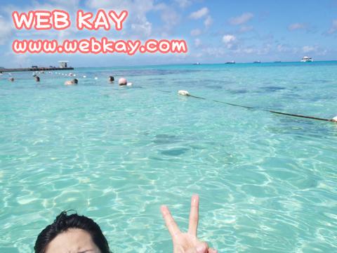 マニャガハ島のビーチにて