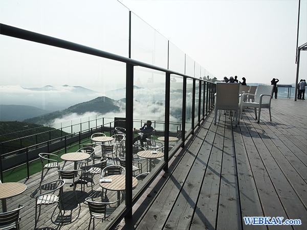 灯台デッキ 雲のゆうびん屋さん ハガキ 星野リゾートトマムの雲海テラス hokkaido tomamu sea of cloud