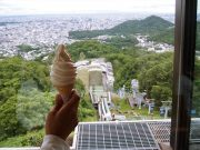 大倉山特製ソフトクリーム ice cream sapporo oyama melon vanilla