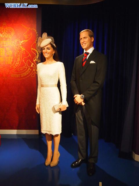 英国 ウィリアム王子(Prince William)とキャサリン妃(Catherine, Duchess of Cambridge)夫妻 マダム・タッソー館 Madame Tussauds Japan