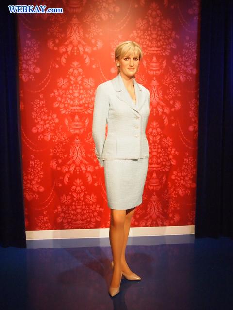 ウェールズ公妃ダイアナ Diana, Princess of Wales マダム・タッソー館 Madame Tussauds Japan