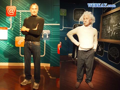 スティーブ・ジョブズ Steven Paul Jobs アルベルト・アインシュタイン Albert Einstein マダム・タッソー館 Madame Tussauds Japan