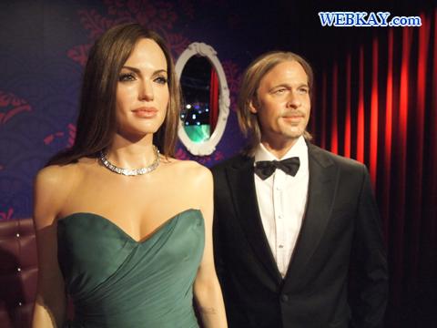 アンジェリーナ・ジョリー Angelina Jolie ブラッド・ピット Brad Pitt マダム・タッソー館 Madame Tussauds Japan