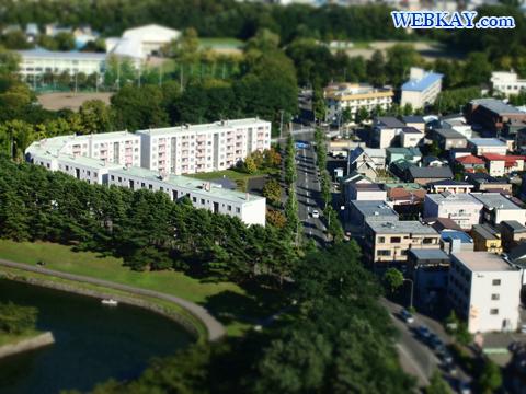 ジオラマ写真 撮影 駐車場 五稜郭(ごりょうかく) 五稜郭タワー 函館観光 北海道