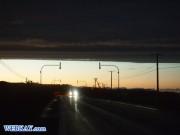 夕日 空模様 自然 天国 風景 オホーツク海 国道238号 北海道