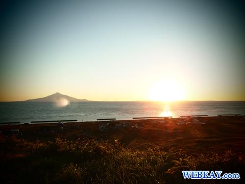夕日が丘パーキング 夕日 利尻島 礼文島