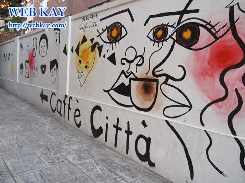新沙洞 街路樹通り カロスキル 韓国 ソウル Caffe Citta