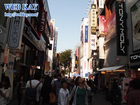明洞(ミョンドン)でショッピング