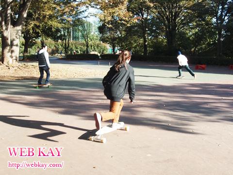 スケートボード 小金井公園 スノーボードオフトレーニング
