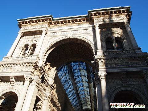 Galleria Vittorio Emanuele ヴィットリオ・エマヌエーレ2世のガッレリア アーケード ミラノ MILANO 散策 イタリア旅行 観光スポット