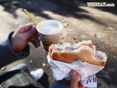 スフォルツェスコ城 軽食 屋台 カルツォーネ プロシュート 食べログ ぶらり旅 イタリア旅行