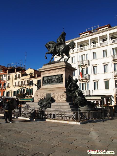 騎馬像,ランチ,lunch,カフェ,ベネチア,ヴェネツィア,venezia,イタリア旅行