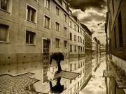 フォトマニピュレーション Photomanipulation 道路/建物/部屋コンセプト