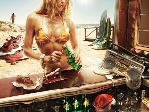 フォトマニピュレーション Photomanipulation Perrier: Melt, Beach