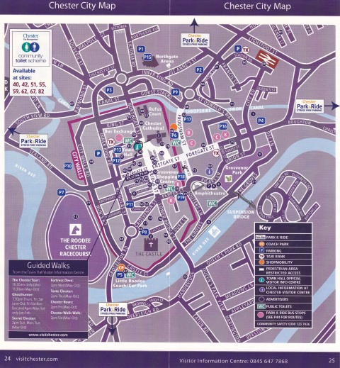 Chester City Map