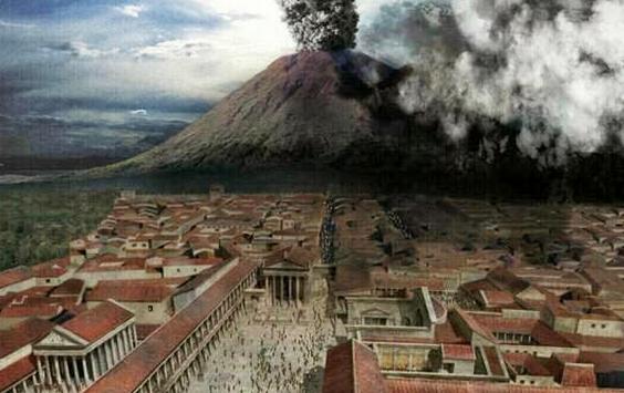 ヴェスヴィオ火山 ポンペイ Pompeii 世界遺産 オプショナルツアー 観光 イタリア周遊 旅行